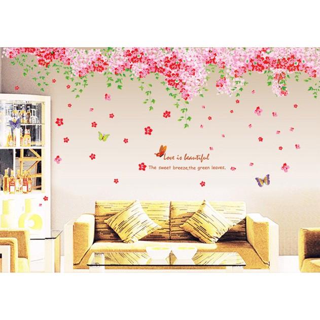 reliza wall sticker / stiker dinding bunga sakura flower jm7138