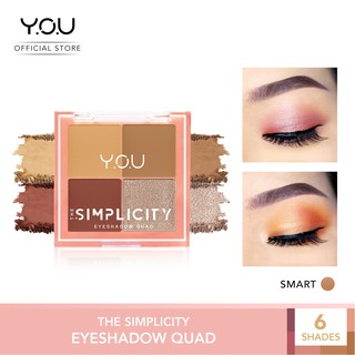 The Simplicity Eyeshadow Quad by YOU Makeups