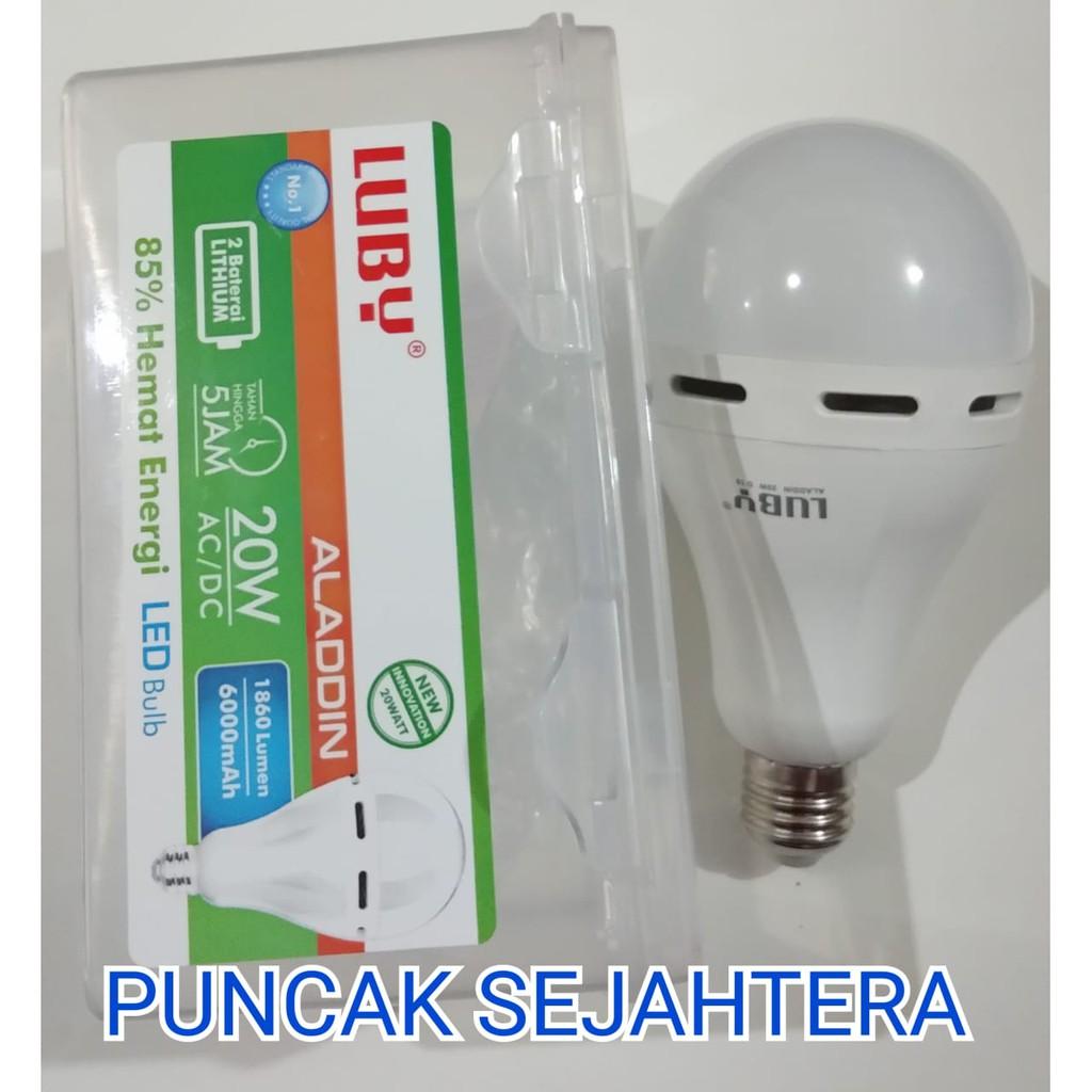 Lampu Led Emergency Luby Aladdin 16w 16 Watt Tetap Nyala Walau Arashi Ajaib 11w 2 Pcs Putih Mati Shopee Indonesia