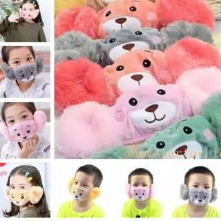 Masker Mulut Telinga Anak Karakter Boneka Import Lembut ...