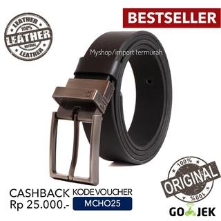 Cora Klain Original - Gesper Sabuk - Ikat Pinggang Pria Kulit Asli - Nb 11 Black