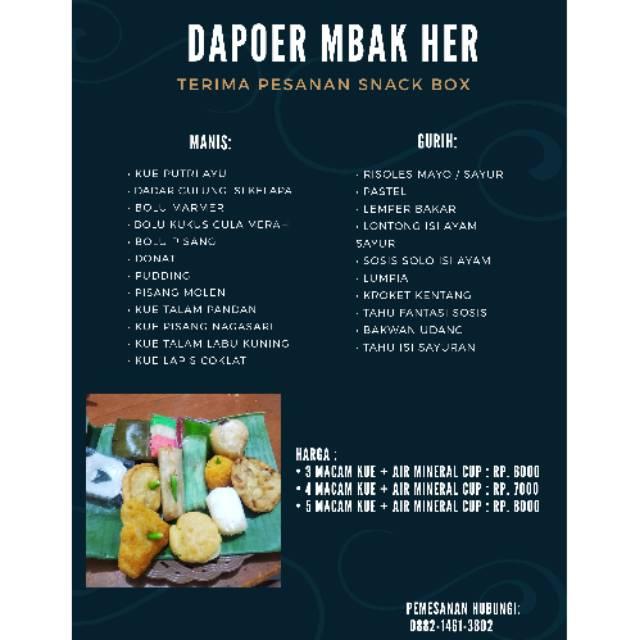 Paket Snack Box Murah Dan Enak Minimal Order 10 Box Shopee Indonesia
