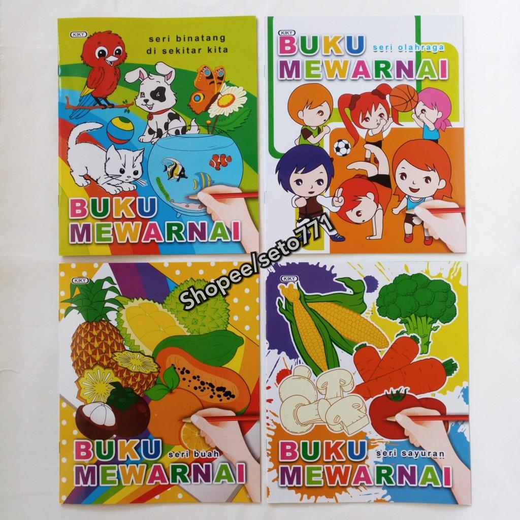 Buku Mewarnai KIKY Kualitas Bagus 20 5cm X 24 5cm Coloring Book