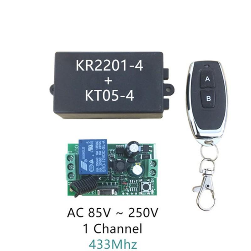 AC 85V AC 220V 1-Channel Radio Frequency Remote Control Switch /& Receiver