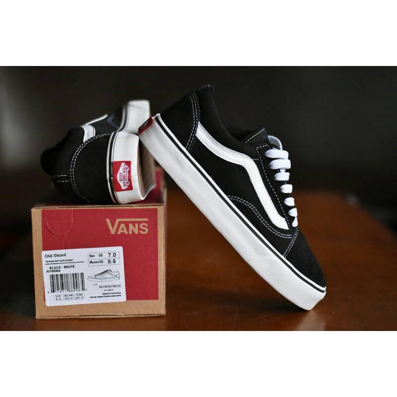 Termurah Sepatu Vans Old Skool Premium BNIB Hitam Putih Sneakers Casual  Pria  6c8eb12c68