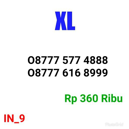 Kartu Perdana XL 087788 12 9888 Seri Triple 888 Simple INJ9 | Shopee Indonesia