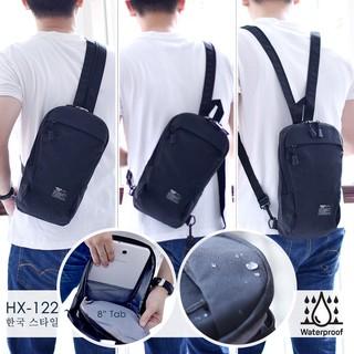 Tas Ransel selempang Pria kanvas Sling Bag Shoulder bag/Tas Import pria bag Kanvas 2in1/HX-122