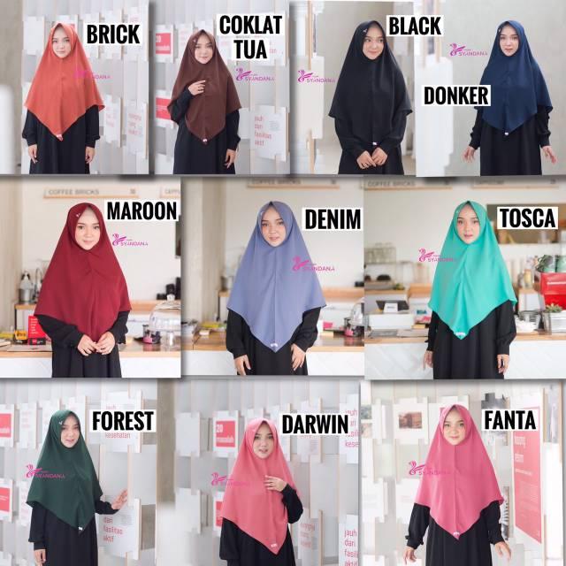 20 Pilihan Warna Lisya Hijab Syandana Pet Antem Syari Jilbab Khimar Kerudung Adem Wolfis Wolvis Shopee Indonesia