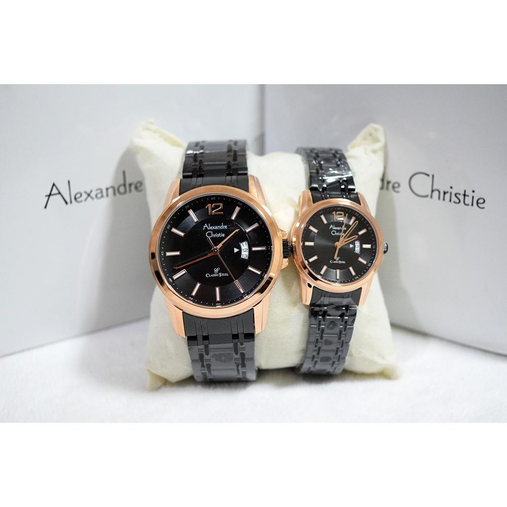 Jam Tangan Couple Alexandre Christie 8554 Silver Rosegold 8040md Pasangan Stainless Steel Alexander Ac Shopee Indonesia