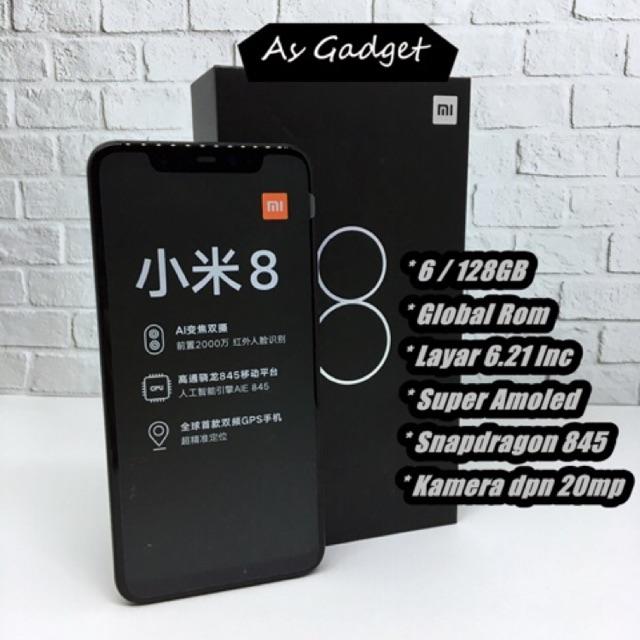 Global Version Xiaomi Mi 8 6GB 128GB MIUI 10 Smartphone 20MP Front Camera Snapdragon 845 Octa Core   Shopee Indonesia
