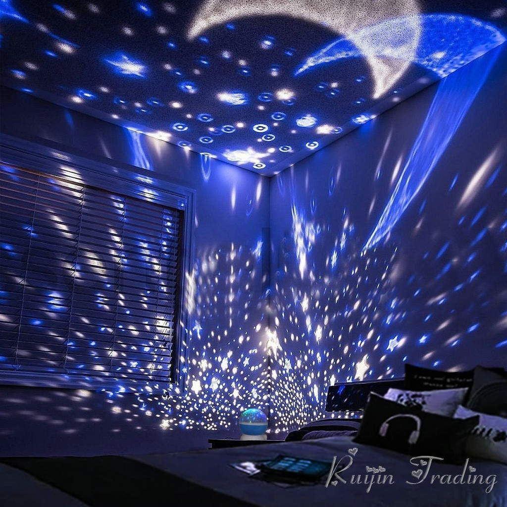 Bayar Di Tempat Lightme Stars Starry Sky Led Night Light Bedroom Lamp Projector Moon Lamp Shopee Indonesia