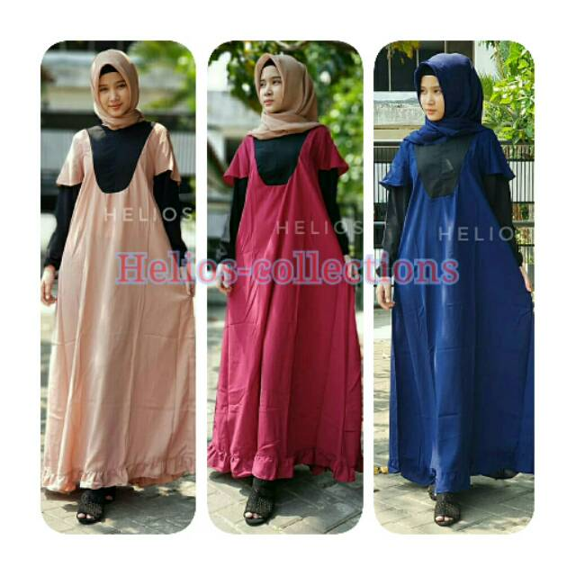 Dress azkia/dress hijab/baju muslim wanita/fashion hijab