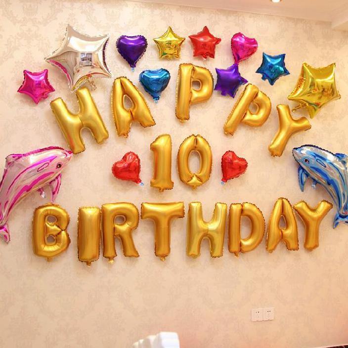Balon Foil Huruf Dan Angka 1 Set Happy Birthday Balon Ultah Ulang Tahun Hbd 13 Huruf Hiasan Shopee Indonesia
