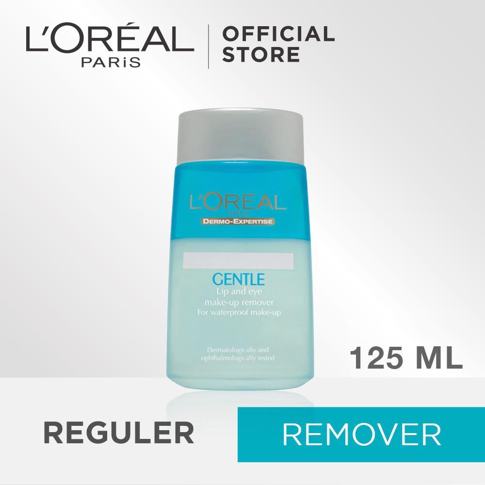 Loreal Dermatologist Gentle Lipeye Make Up Remover 125m Spec Dan Laneige Lip Eye Waterproof Ex 25ml Paris 125 Ml Shopee