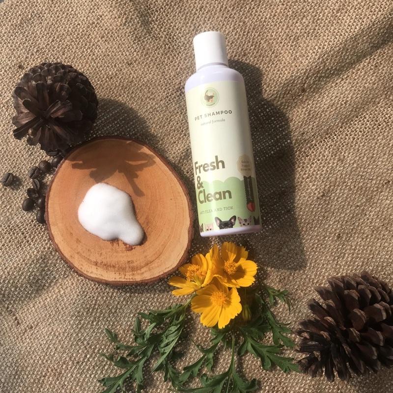 Shampo kucing anjing | shampo anti gatal dan kutu | cat and dog shampoo | natural pet shampoo 250ml-Strawberry