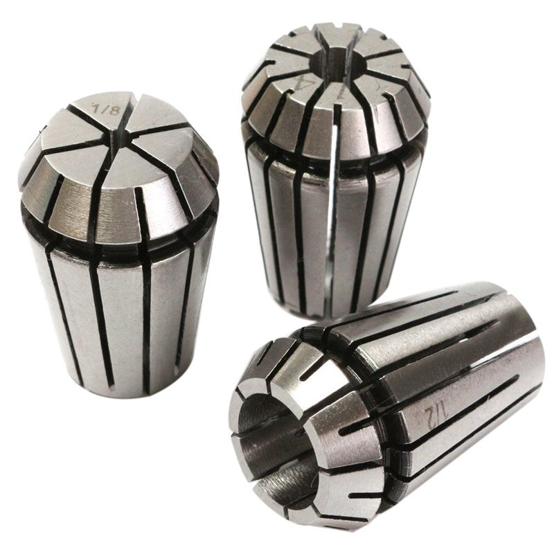 """3pcs ER20 Spring Collet Chuck Lathe Milling CNC Engraving Holder 1//8/"""" 1//4/"""" 1//2/"""""""