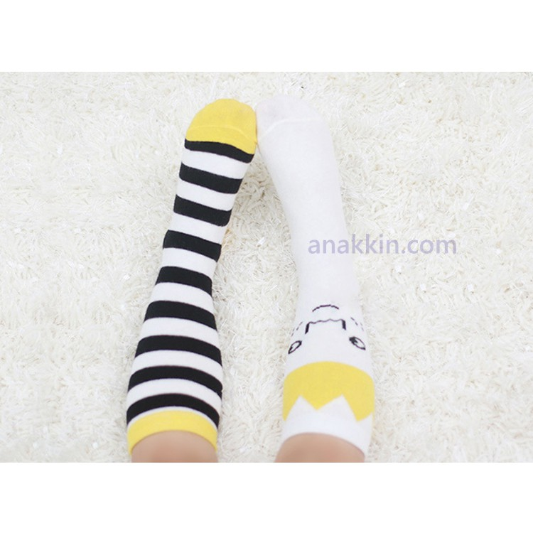 Kacakid Anti-Slip High Socks / Yellow Crown / kaos kaki anak / kaus kai