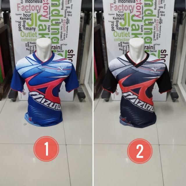 [ MIZUNO GARUDA ] Baju Kaos Olahraga Jersey Bola Setelan Futsal / Volly