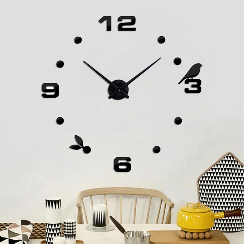 Self Adhesive Wall Clocks Large Wall Clock Digital 3d Modern Style Chruykgj Shopee Indonesia
