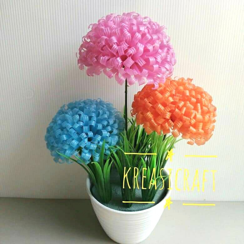Batang Plastik Bahan Kerajinan Tangan Bunga Sedotan Bunga Plastik Bunga Shopee Indonesia