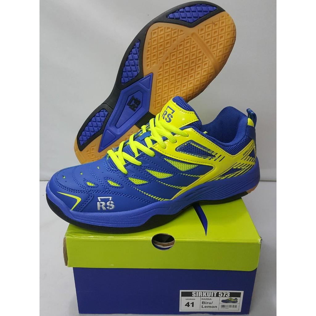 Sepatu Badminton RS Sirkuit 573 Blue Lemon  0a7813313e