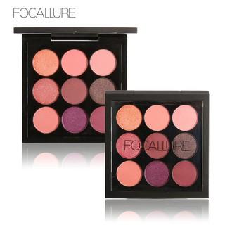 Focallure Palet Eyeshadow Kosmetik Makeup 9 Warna Tanah Shimmer Matte thumbnail