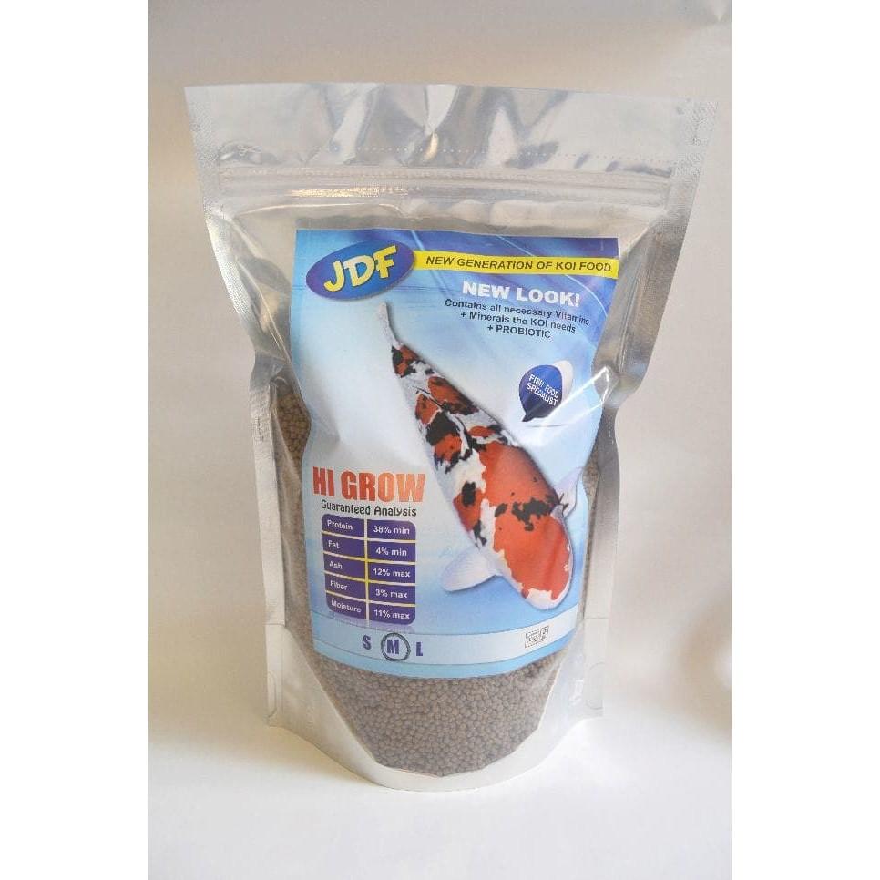 Pelet Makanan Ikan Koi JDF Hi Grow New Look 1kg ( size M, L )