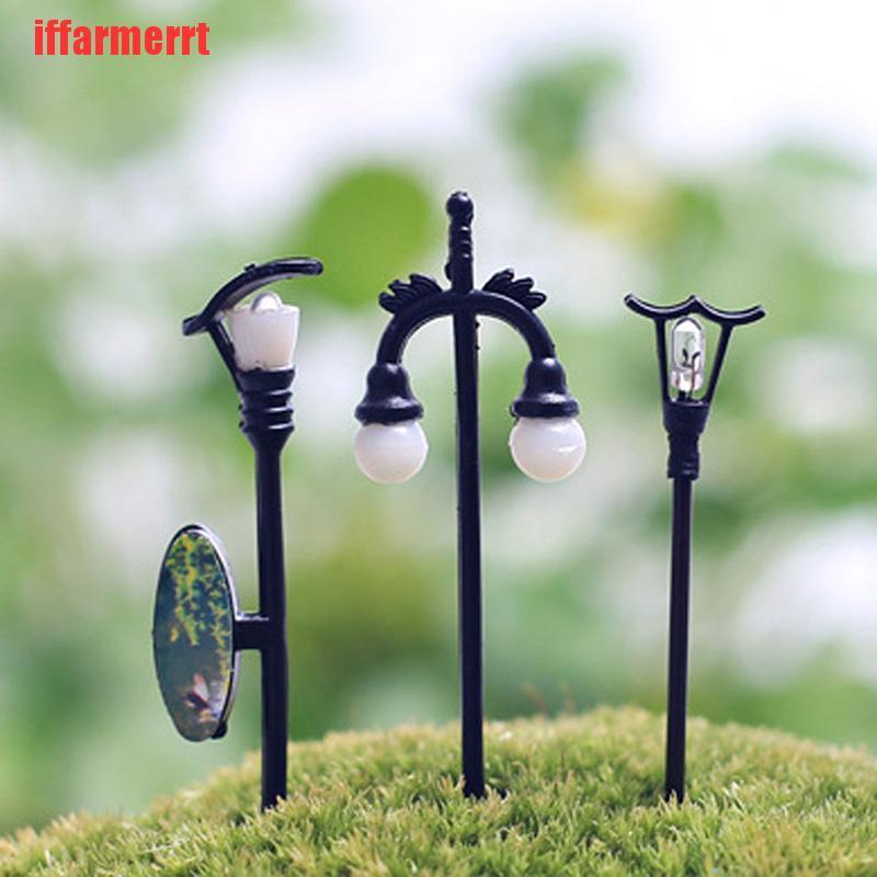 Iffarmerrt Miniatur Lampu Jalan Warna Hitam Untuk Dekorasi Taman Rumah Boneka Diy Shopee Indonesia