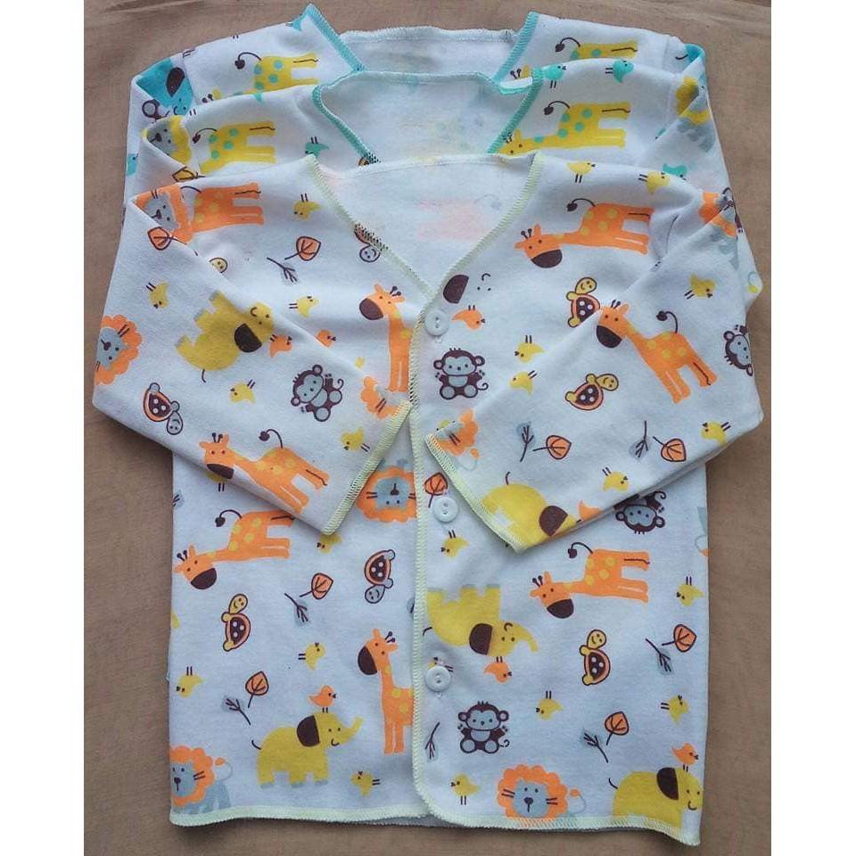 3 Baju Bayi Baru Lahir Newborn Motif Baju Panjang Bayi Laki Laki Perempuan Shopee Indonesia