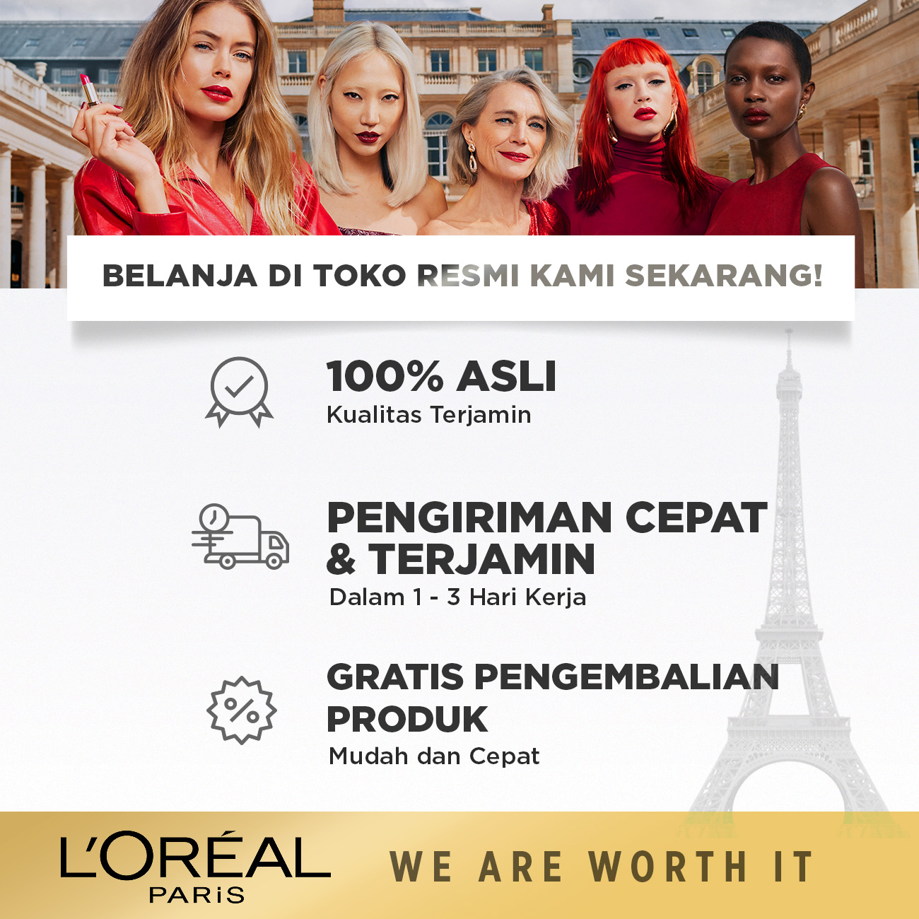 L'Oreal Paris Fall Resist 3x Shampoo Hair Care - 280ml (Perawatan Untuk Rambut Mudah Rontok)-8