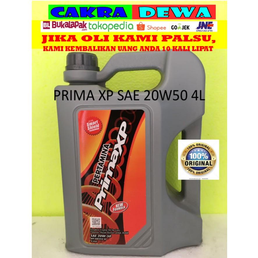 NEW Oli Mesin mobil Pertamina PrimaXP PRIMA XP sae 20W50 Galon 4 liter MURAH   Shopee Indonesia