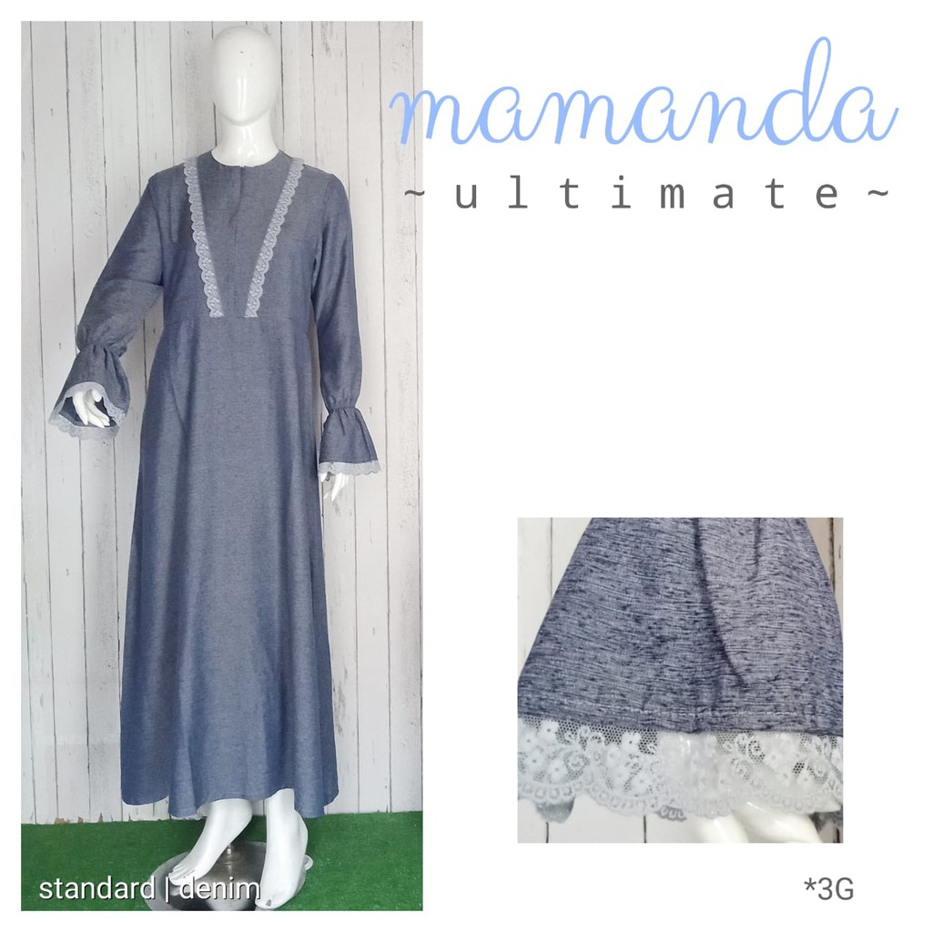 Gamis Dewasa Denim Ultimate Series by Mamanda