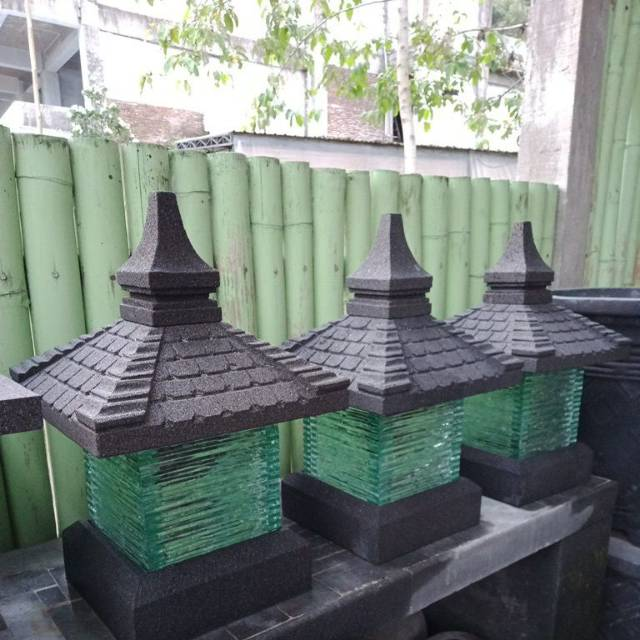Lampu Taman Batu Alam Shopee Indonesia