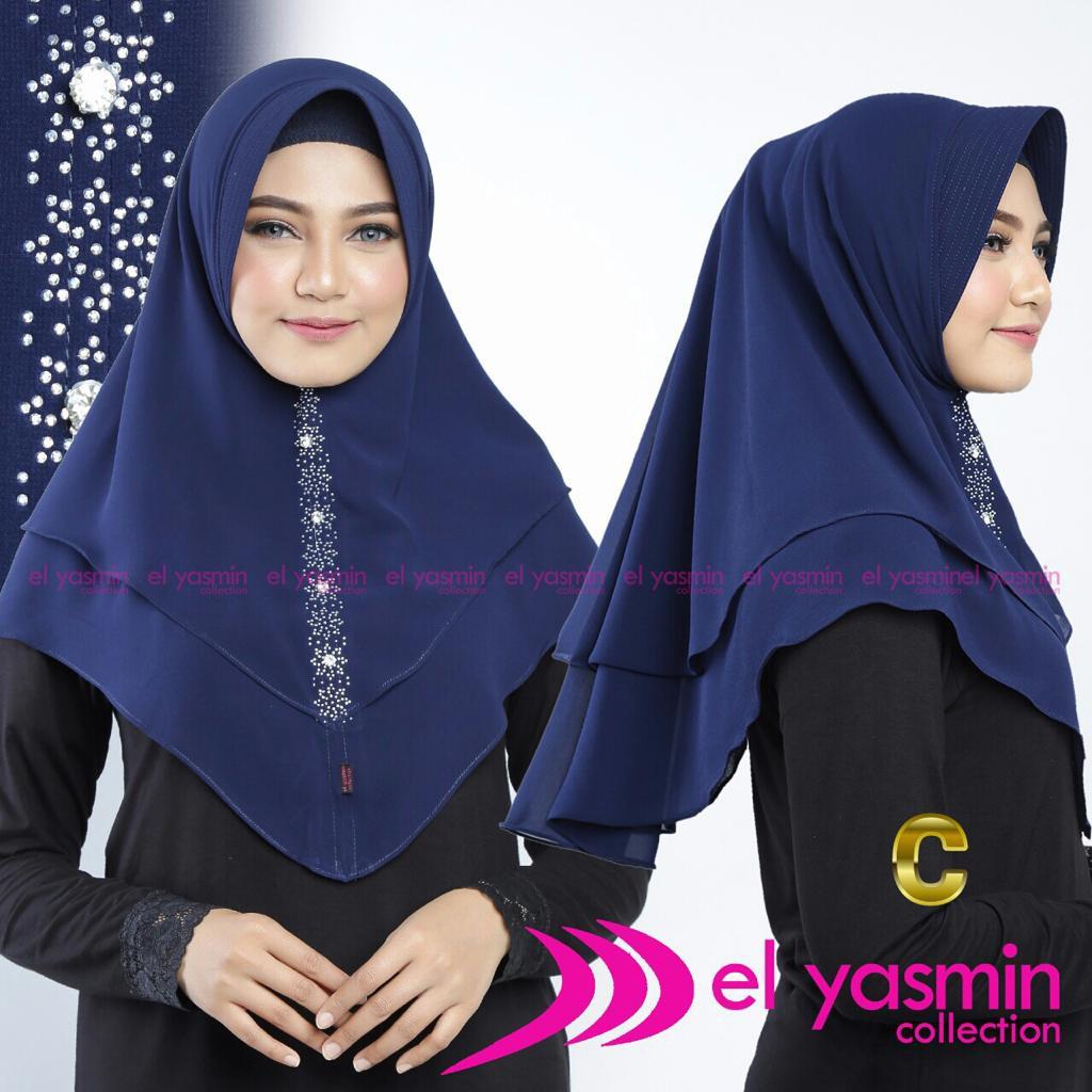 Jilbab Instan Hijab Bergo Murah El Yasmin Desain C