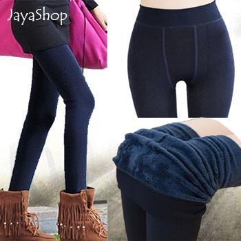 Legging Thermal Import Celana Legging Wanita Tebal Untuk Winter Musim Dingin Shopee Indonesia