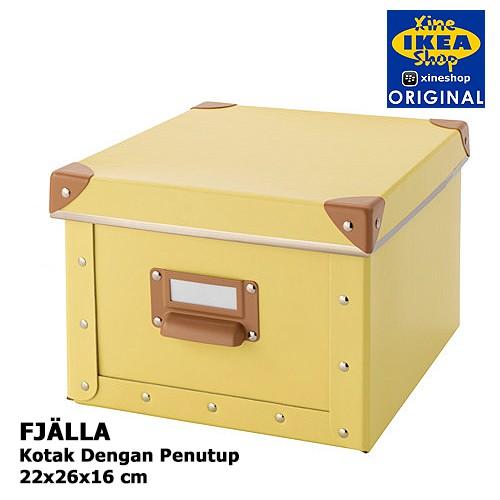 New Produk Ikea Fjalla Kotak Dengan Penutup, Krem, 27X35X20Cm Flash Sale | Shopee Indonesia