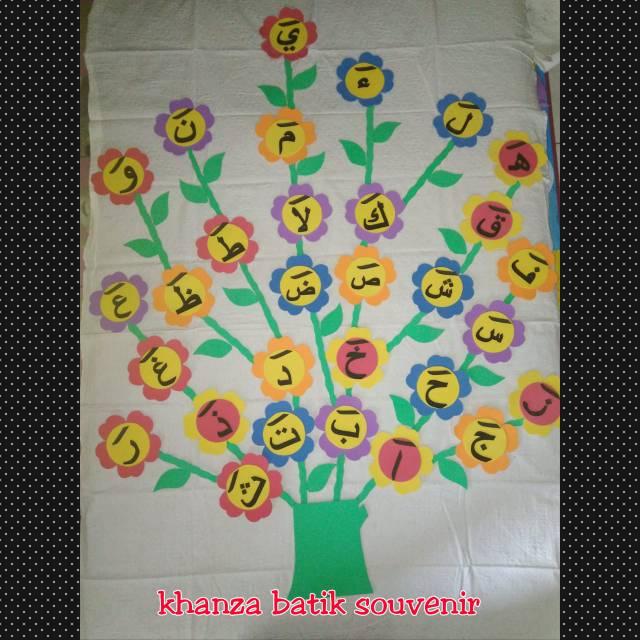 Hiasan Ruang Kelas Mainan Edukasi Anak Pohon Hijaiyah Shopee Indonesia