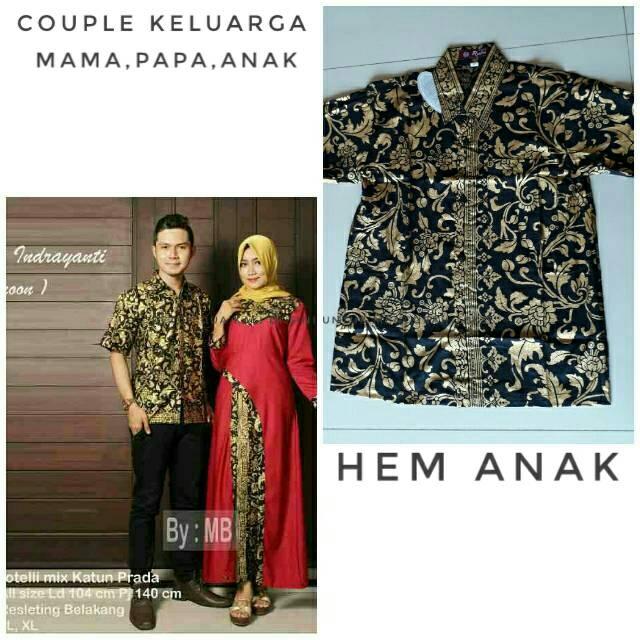 Baju Batik Mama Papa Anak  cdd14e0c3f