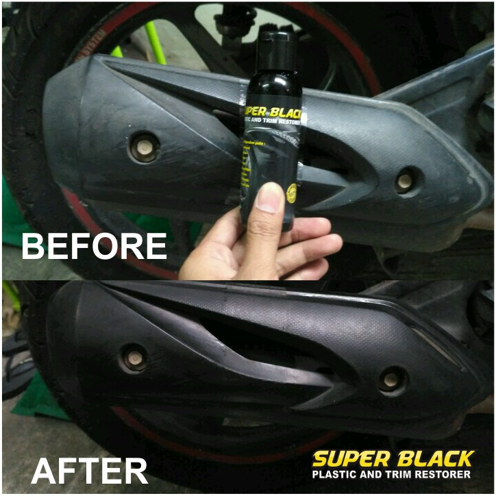 Paling Ampuh Super Black To Black Permanent Penghitam Dashboard Kusam Penghitam Body Motor Shopee Indonesia