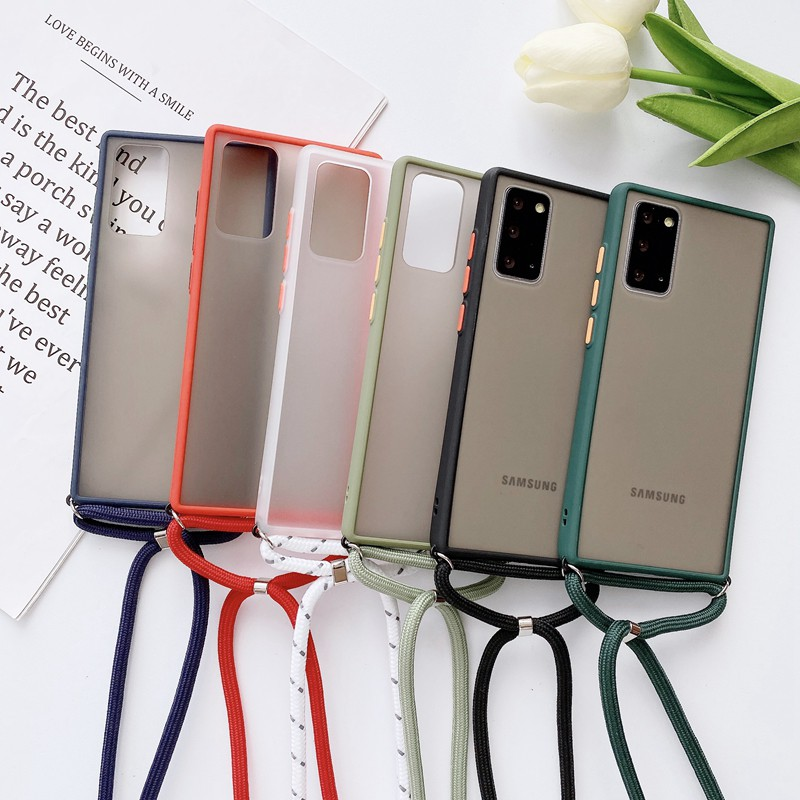 Samsung A01 / A01 Core / A11 / A10 / A10S / A20 / A20S Softcase Tali Hp Selempang Leher Lanyard Dove