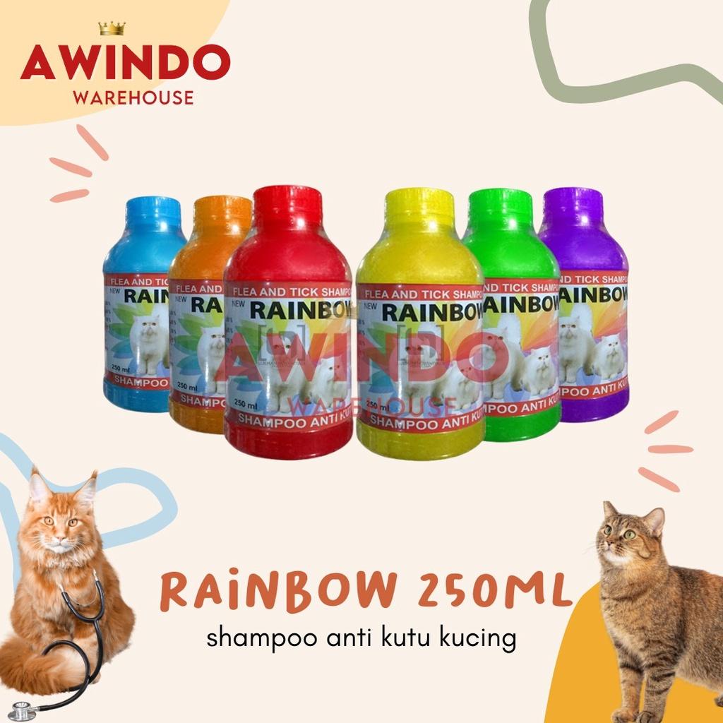 RAINBOW 250ML - Shampo Anti Kutu Kucing Cat Kitten Flea Tick Shampoo