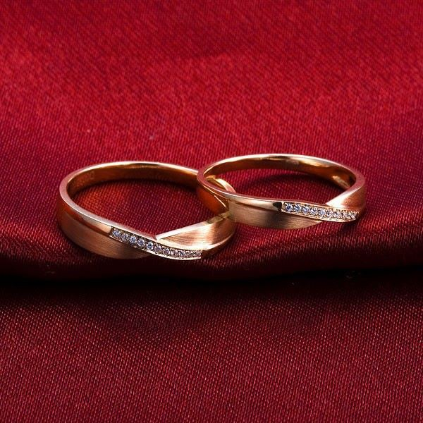 Cincin Nikah Pasangan Tunangan Perak Kadar 925 Palladium Platinum Emas 666