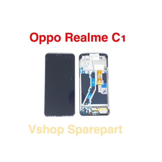 Lcd Touchscreen Oppo Realme C1 Realme 2 + Frame Bazel Fullset Original