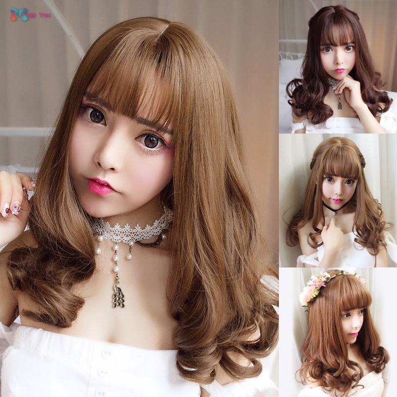 Short Curly Hair With Bangs Girls 42