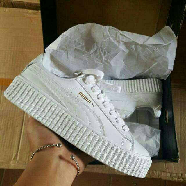 Puma Rihanna x Fenty Creepers Green Bordeaux Gum Sneakers Wanita Sepatu  Jalan PREMIUM  8965818362