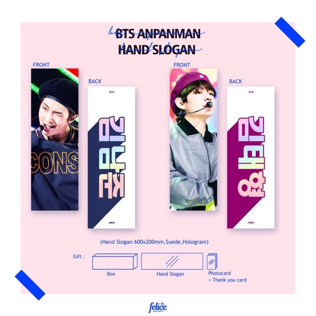 BTS ANPANMAN Hologram Hand Cheering Slogan