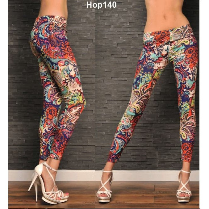 Bawahan Wanita Celana Legging Legging Motif Abstrak Warna Cerah Hop140 Promo Shopee Indonesia
