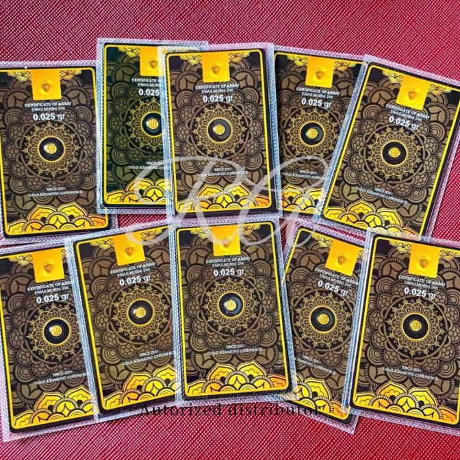 MURAH minigold 0.025 gram / mini gold 0,025 gr / emas antam |Logam Mulia