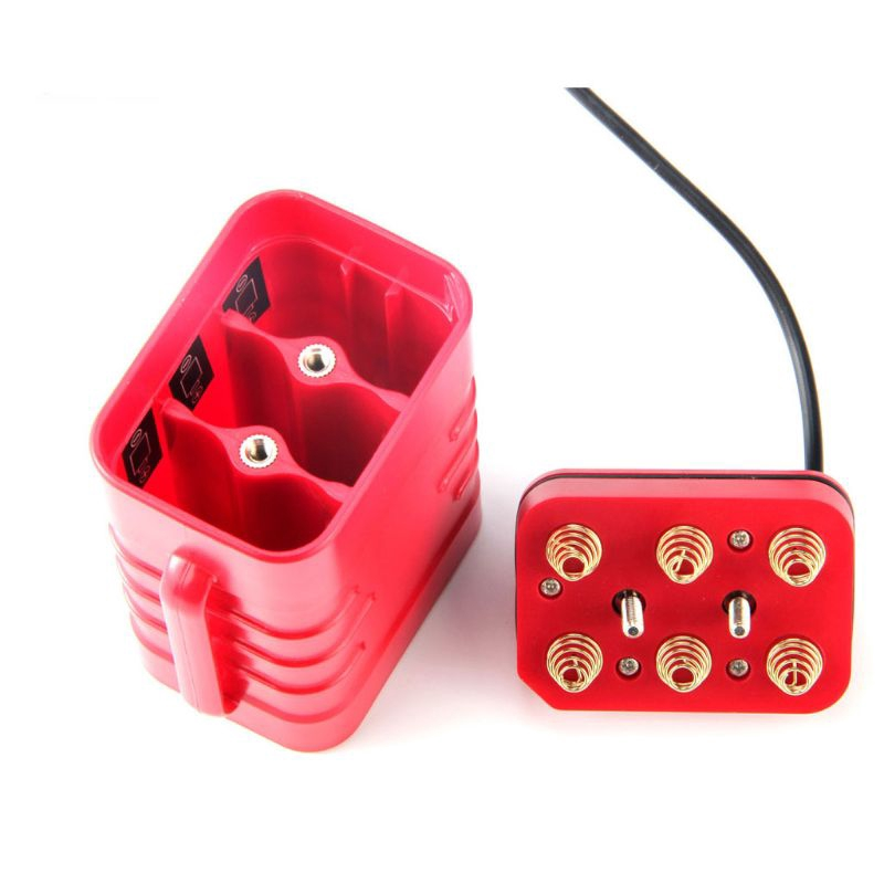 DC 8.4V USB 5V 6x 18650 Battery Storage Case Box For Bike LED Light Lamp Phone