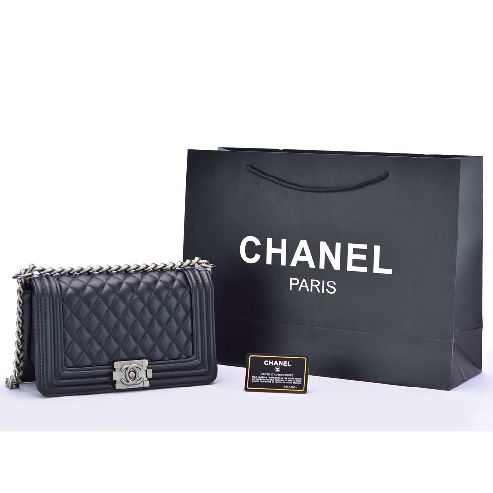 59ba0a9302a TAS BRANDED IMPORT MURAH - Clutch Chanel WOC Flap Classic Lambskin HITAM  Semprem AL33814 | Shopee Indonesia